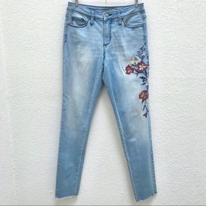 Universal Thread Embroidered Mid Rise Skinny Jeans